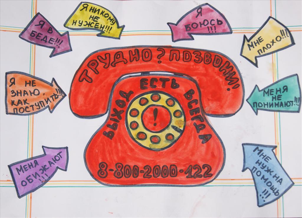 Раскраска телефон доверия детям